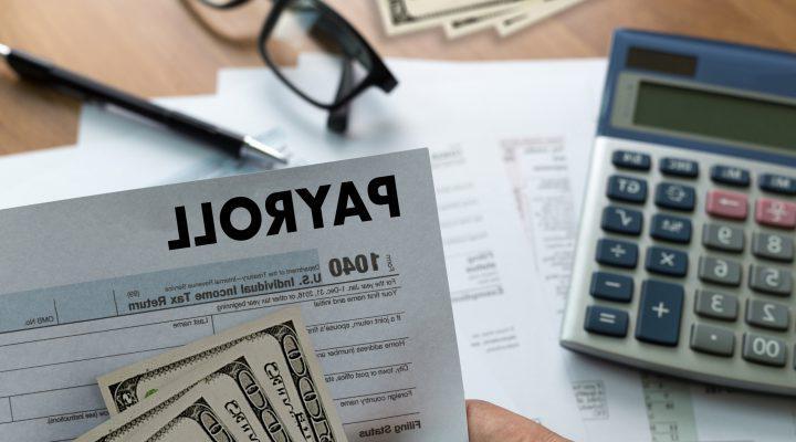工资单商人工作财务会计概念